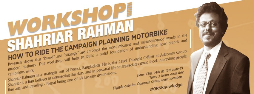 #ORNKnowledge Series: How to ride the campaign planning motorbike?